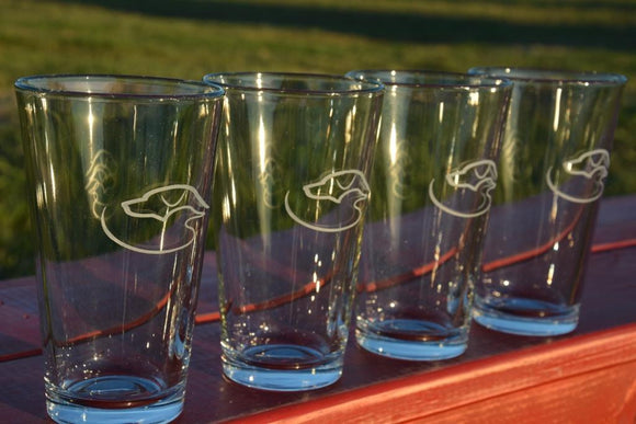 Duck Dog Pint Glasses