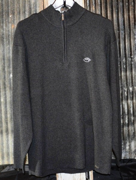 Men's 1/4 Zip Sweater ~ Heather Charcoal