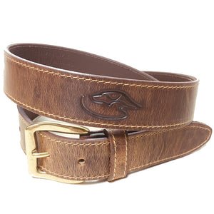 J - DD Logo Belt - Embossed - Distressed Leather