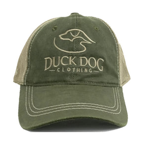 Trucker Full Logo Weathered ~ Olive/Tan