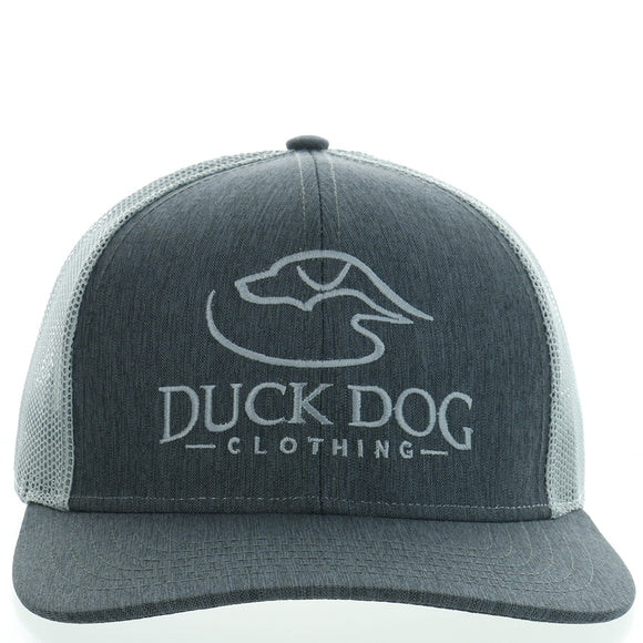 Full Logo-Flat Bill ~ Heathered Charcoal/Grey