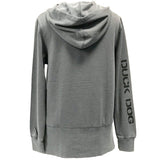 Duck Dog Clothing Ladies Drop Tail Hoodie Grey Back