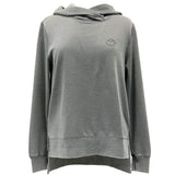 Duck Dog Clothing Ladies Drop Tail Hoodie Grey Front