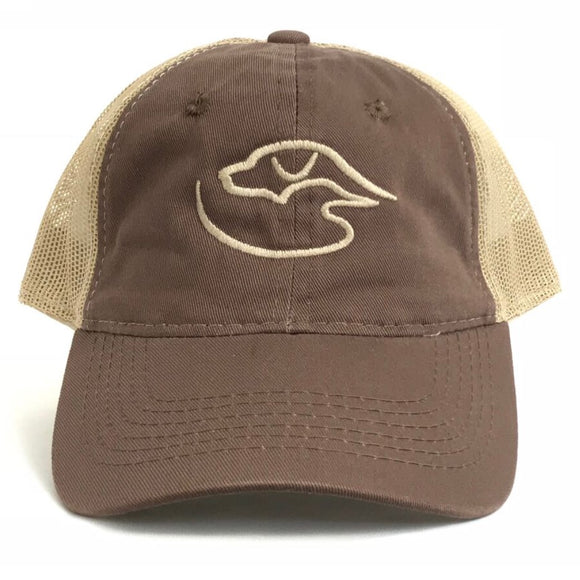 Trucker Logo ~ Brown/Tan
