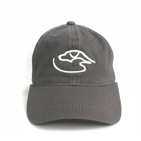 Trucker Logo ~ Charcoal/White