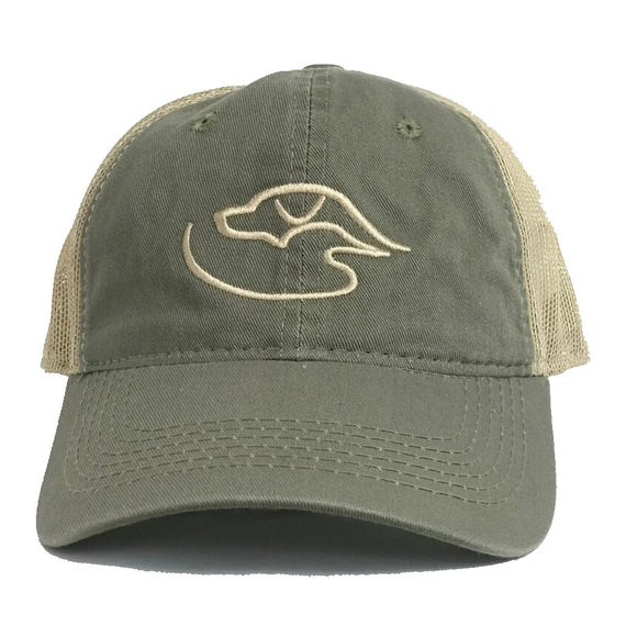 Trucker Logo ~ Olive/Tan