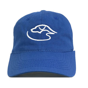 Trucker Logo ~ Royal/White