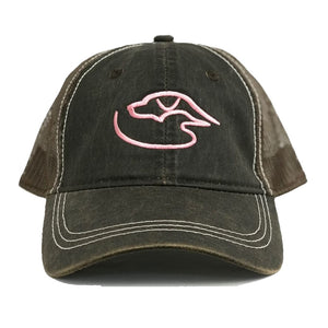Trucker Logo Weathered ~ Brown/Pink