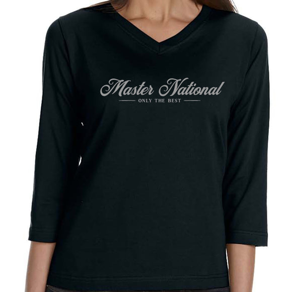 Master National 2019 - Ladies 3/4 Sleeve V-neck MN