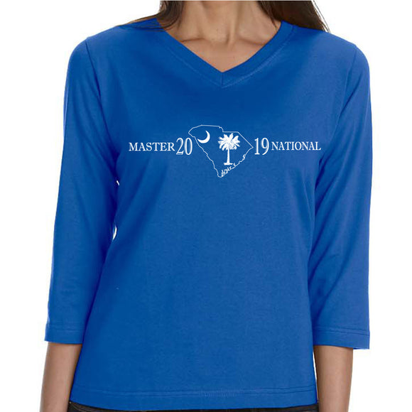 Master National 2019 - Ladies 3/4 Sleeve V-neck