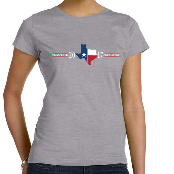 Master National 2017-Ladies Short Sleeve T-Shirt - Texas Front