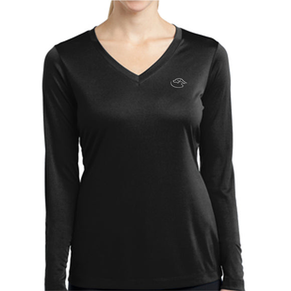 Ladies Long Sleeve Logo - Performance