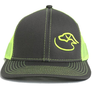 Corner Logo-Flat Bill ~ Charcoal/Neon Yellow