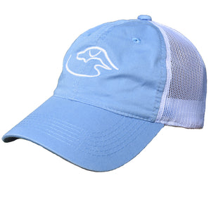 Trucker Logo ~ Light Blue/White