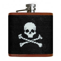 J - SB Flask Jolly Roger