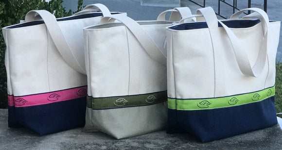 The Georgie - Zippered Logo Tote