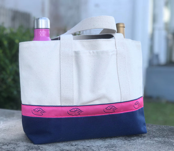The Jake - Wine Tote with Duck Dog Logo