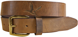 J - BC Belt - Duck Embossed Latigo Leather