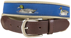 J - BC Belt - Waterfowl - Royal on Camel
