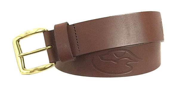 J - DD Logo Belt - Embossed - DarkBrown