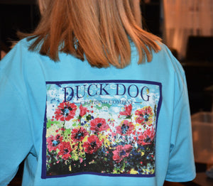 Short Sleeve Pocket T's - Poppies by the Sea