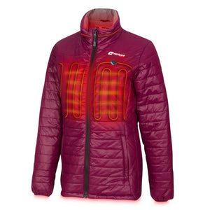 Women's Insulated Heated Puffer Jacket - Traverse 2.0 - Plum