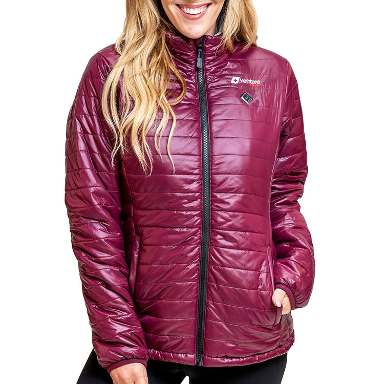 Women's Traverse 2.0 Insulated Heated Puffer Jacket - Plum