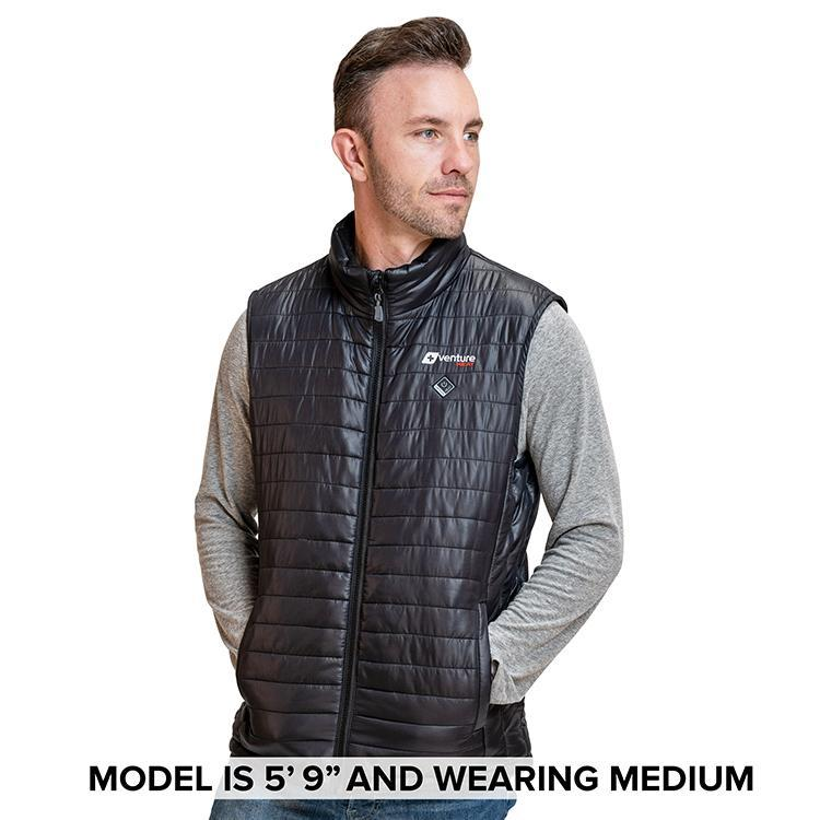 Load image into Gallery viewer, Men's Tri-Zone Insulated Heated Puffer Vest - Roam 2.0 - Black