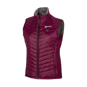 Women's Tri-Zone Insulated Heated Puffer Vest - Roam 2.0 - Plum - FINAL SALE