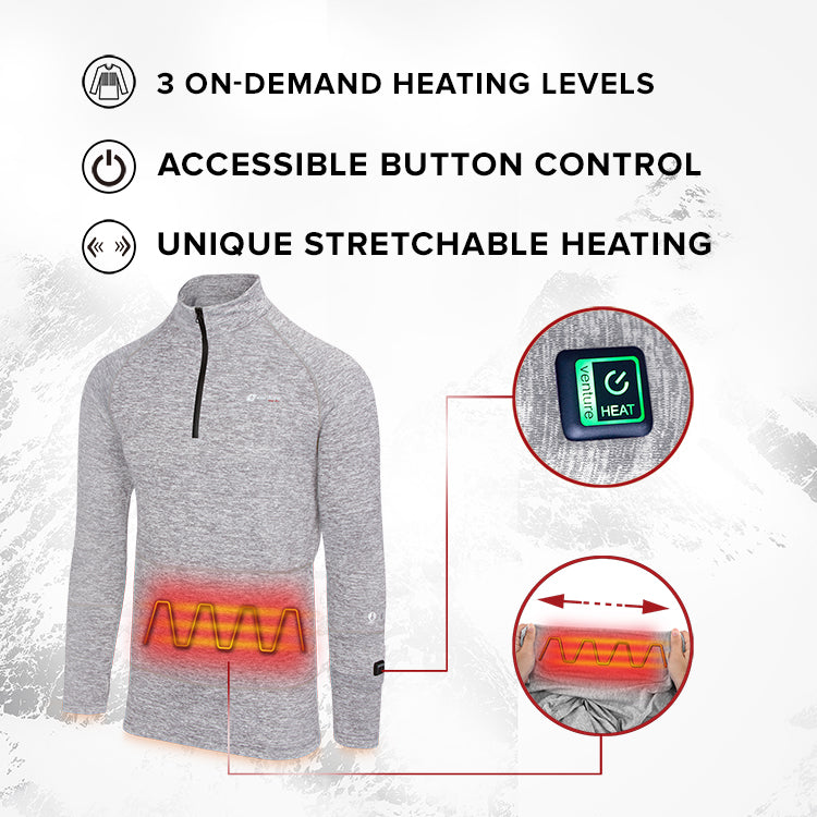 Heated Base Layer Shirt 5V (Gray) - FINAL SALE