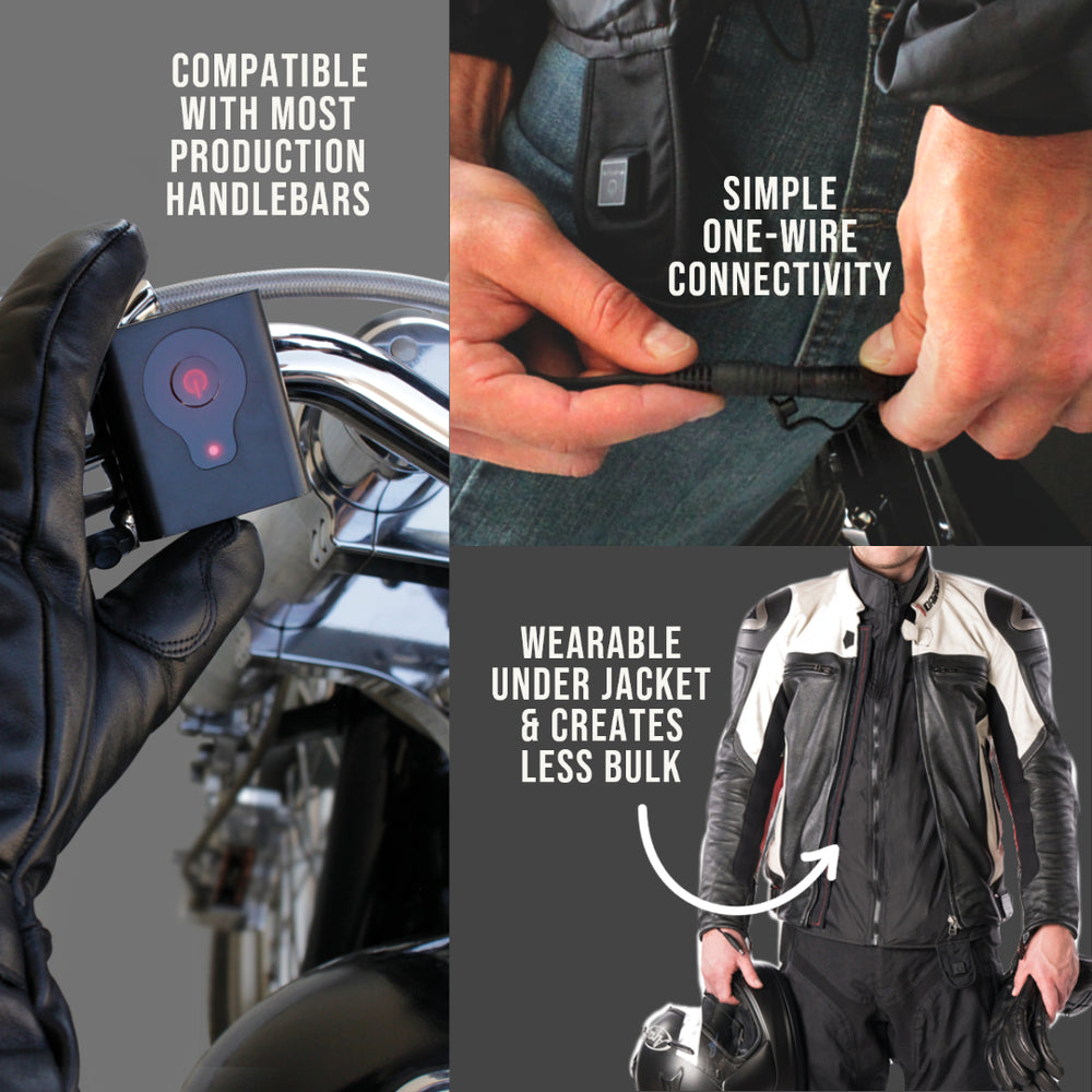 Motorcycle Deluxe Heated Jacket Liner - 7 AMP