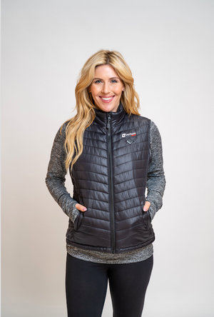 Women's Tri-Zone Insulated Heated Puffer Vest - Roam 2.0 - Black