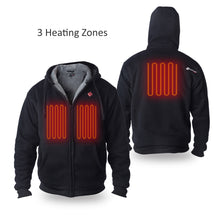 Load image into Gallery viewer, Battery Heated Hoodie 5V (Black) - FINAL SALE