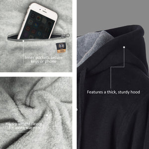Battery Heated Hoodie 5V (Black) - FINAL SALE