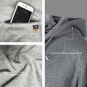 Battery Heated Hoodie 5V (Gray) - FINAL SALE