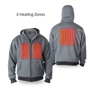 Load image into Gallery viewer, Battery Heated Hoodie 5V (Gray) - FINAL SALE
