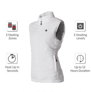 Heated Puffer Vest 5V (White) - FINAL SALE