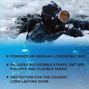 20W WAVE - Diving Waterproof Heated Wet Suit with Batteries
