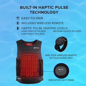 40W DRY  - Waterproof Heated Diving Undersuit For Drysuit