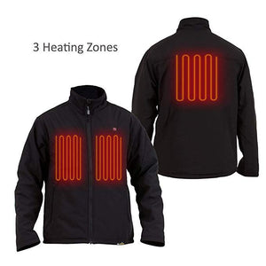 Delspring Battery Heated Soft Shell Jacket 5V (Black) - FINAL SALE