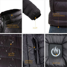 Load image into Gallery viewer, Delspring Heated Down Jacket 5V (Black) - FINAL SALE