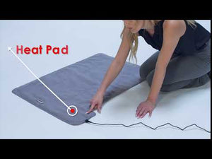 "Load and play video in Gallery viewer, XXL 36"" x 24"" Deluxe Half Body Far Infrared Ray Heat Therapy Pad - Gray"