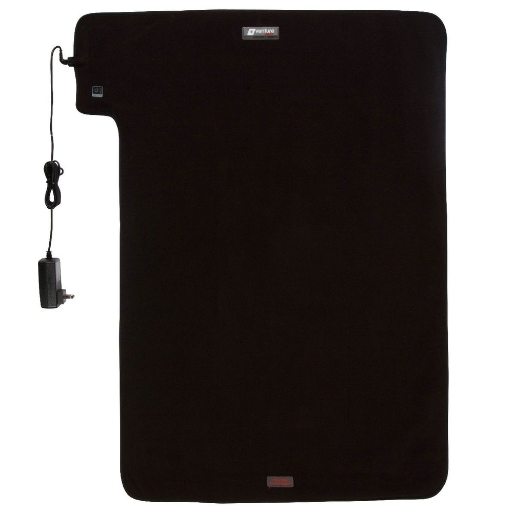 "XXL 36"" x 24"" Deluxe Far Infrared Ray Heat Therapy Pad - Black"