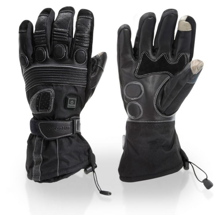 Touring Motorcycle Heated Gloves with Padded Protection