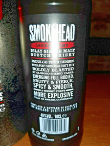 Smokehead Sherry Bomb Islay Single Malt Scotch Whisky limitiert - 0,7l - 48% OVP