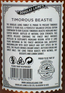 Timorous Beastie 12 Jahre - limitiert - Highland Blended Scotch Whisky -