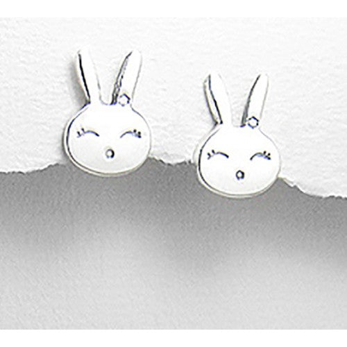 Baby Bunny Sterling Silver Earrings