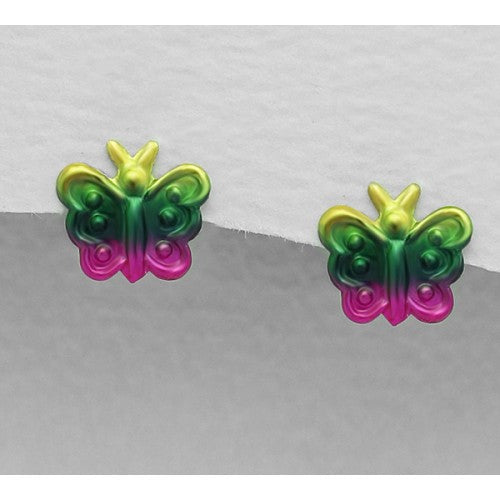 Beautiful Butterfly Sterling Silver Earrings