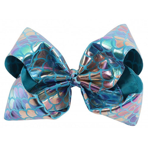 Big Mermaid Bow - Ocean Blue