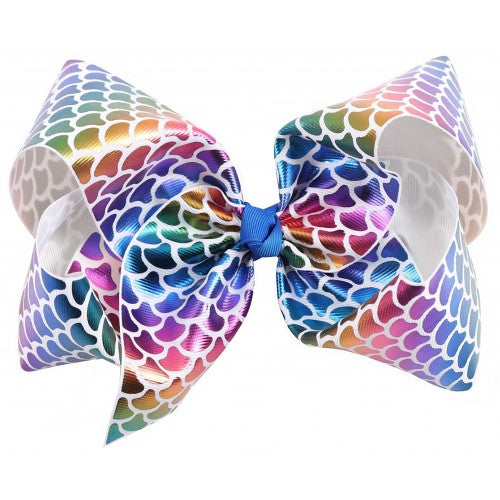 Big Mermaid Bow - Rainbow